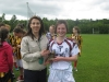 eimear fitzpatrick recieving her player of the tournament award from organiser Ms Gillian Cunningham