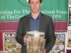Past pupil Michael Fennelly with the Liam McCarthy Cup