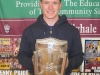 Past pupil Paul Murphy with the Liam McCarthy Cup