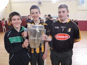 1st and 3rd year boys with the cup