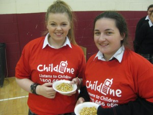 Student council members Rachel Fitzgerald and Stacey Phelan