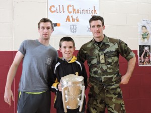 Joey Holden and Colin Fennelly with TJ Murphy 2nd Year