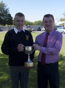 Martin Davis, captain of All-Ireland winning team, Sonny Walsh Cup