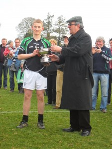 James Grace, Capton being presented with the Leinster Cup