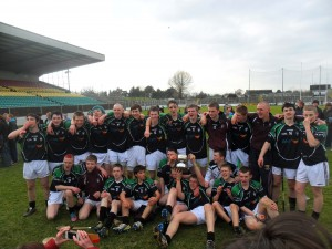 Scoil Aireagail Senior Hurling team celebrating their victory