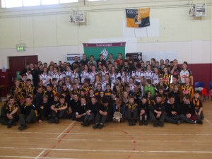Students at the Kilkenny Hurlers visit