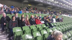TY students at the aviva